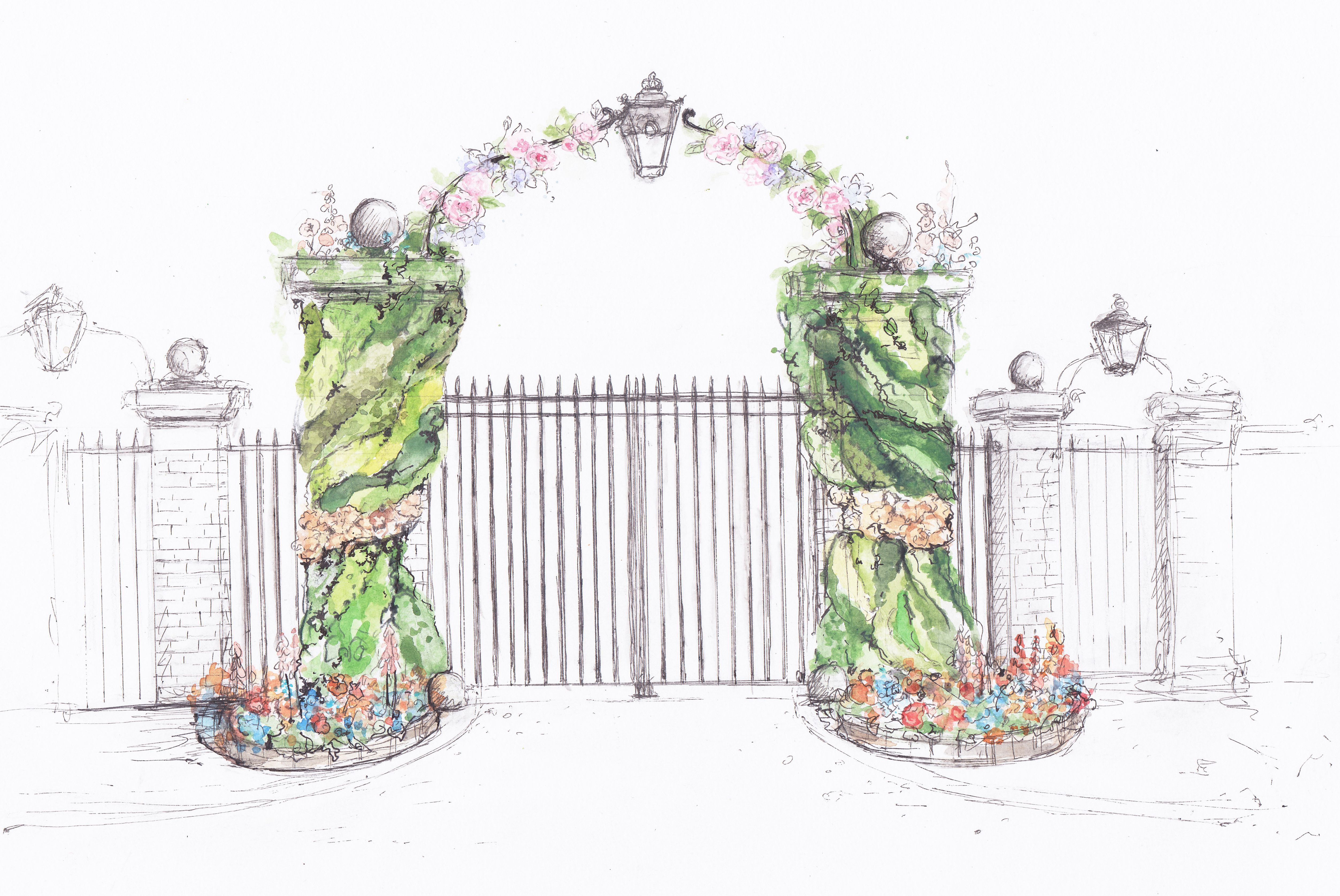 Living Walls at London Gate RHS Chelsea 2019 Drawing