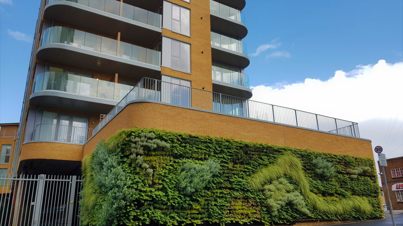 Living Wall Fytotextile Flexible System Dynamic Urban Greening