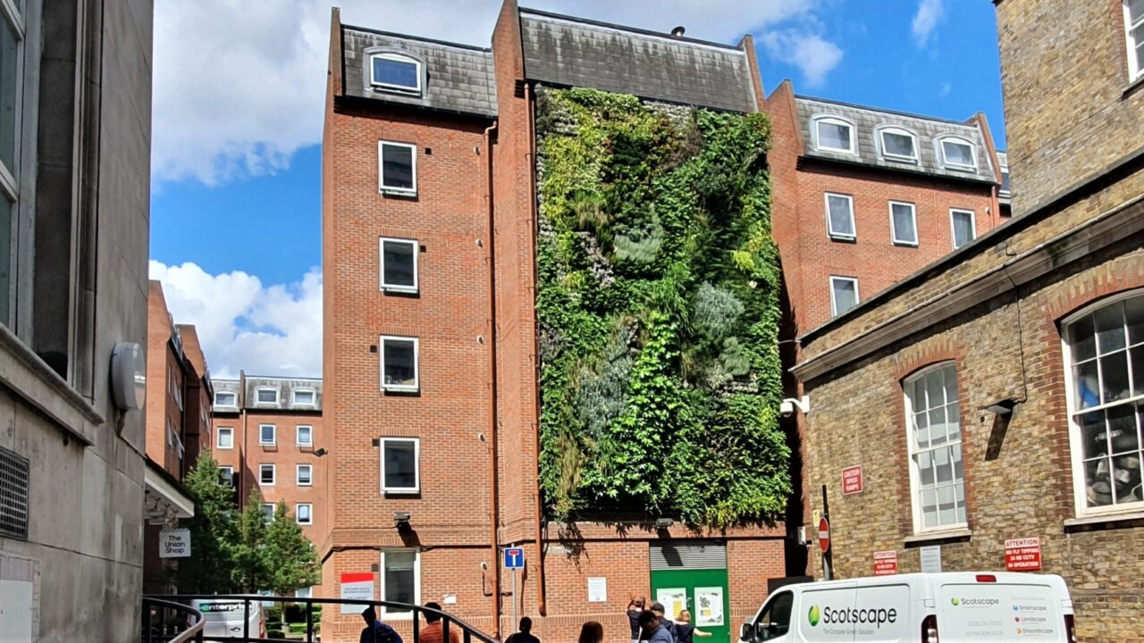 Fytotextile Living Wall – The lightest Living Wall system on the UK market