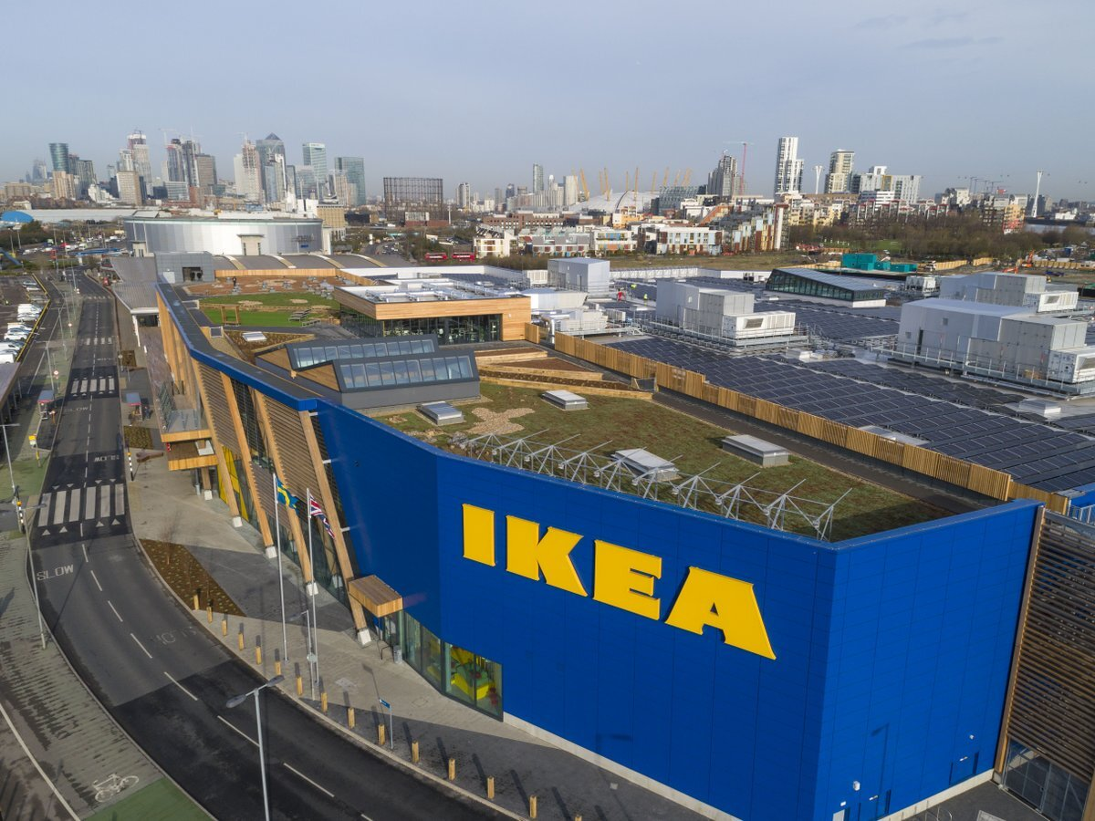 Green Roof at Ikea Greenwich by Bridgman and Bridgman