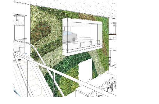 Jaguar Land Rover Living Wall Planting Design