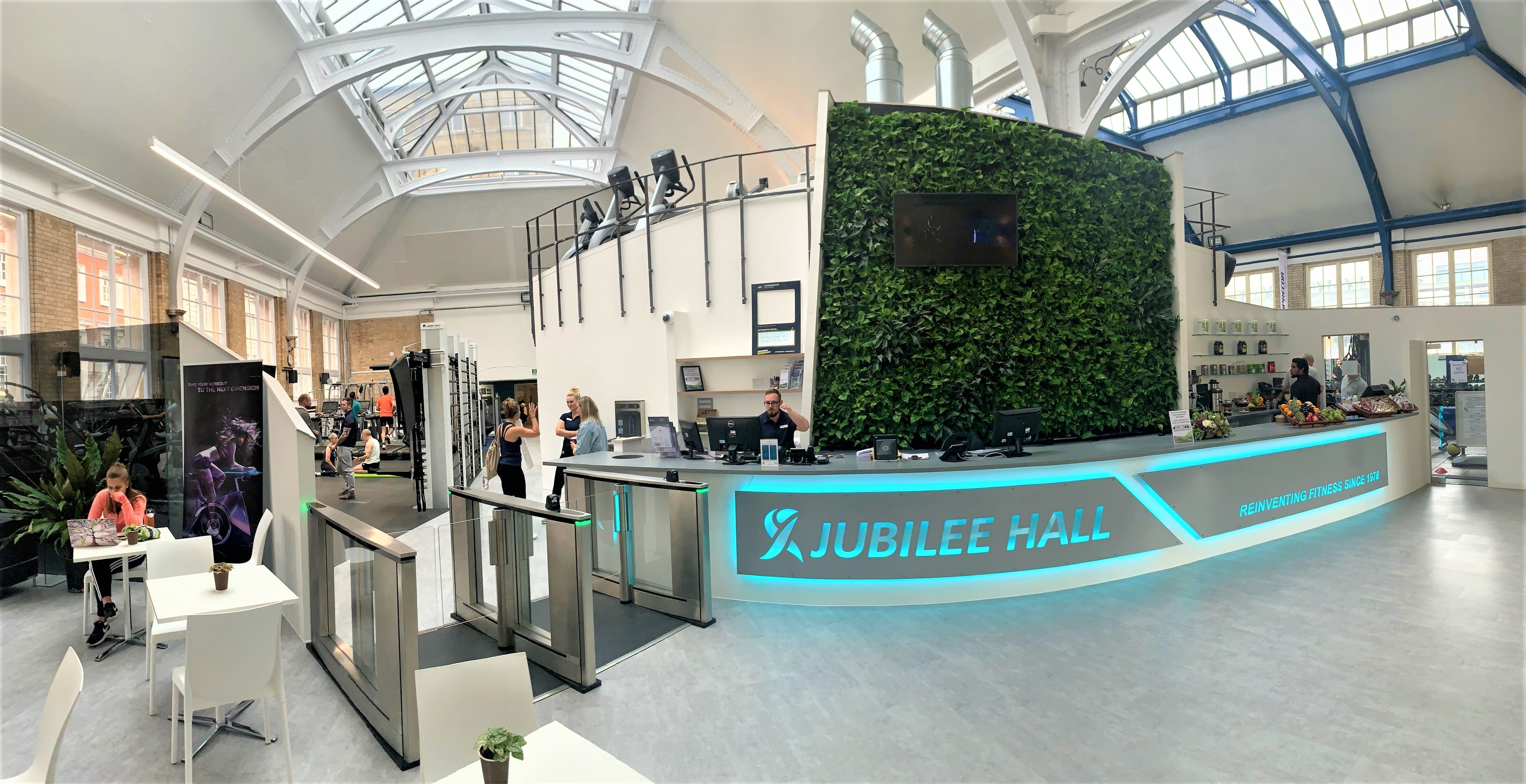 Living Wall in Reception at Jubilee Hall