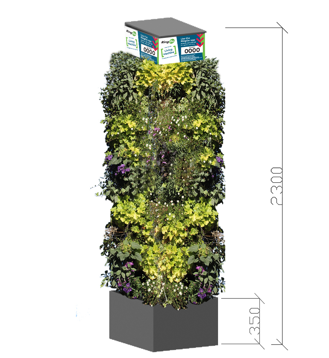Living wall living pillar