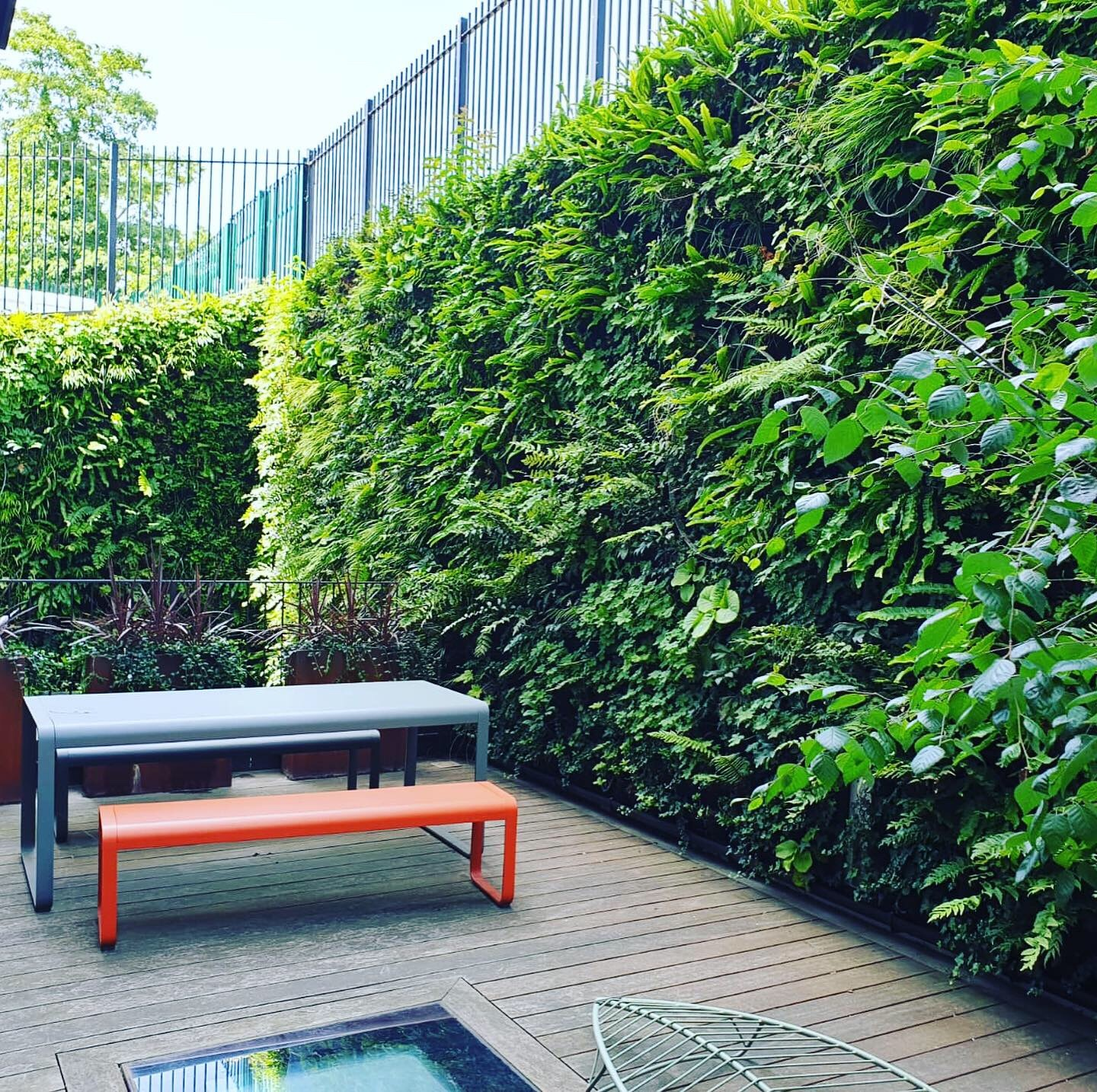 Living wall Green wall benches